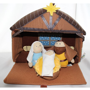 Plush Nativity 4 Piece Play Set   -