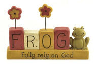 F.R.O.G. Fully Rely on God Figurine  -