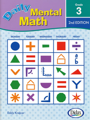 Daily Mental Math 3, 2nd Edition   -     By: Eddy Krajcar