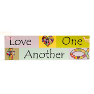 Love One Another Wooden Sign  -