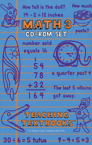 Teaching Textbooks Math 3 CD-Roms Only   -
