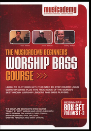 The Musicademy Beginners Worship Bass Course Box Set (Volumes 1-3)  -