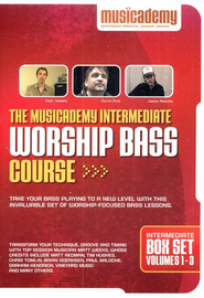 The Musicademy Intermediate Worship Bass Course Box Set (Volumes 1-3)  -