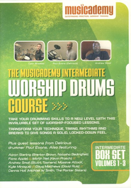 The Musicademy Intermediate Worship Drums Course Box Set (Volumes 1-3)  -
