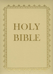 King James Version, Deluxe Family Bible - Ivory  -