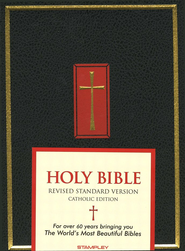 The Catholic Family Bible, (RSV) Black Hardcover       - Imperfectly Imprinted Bibles  -