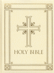 The Catholic Family Bible, (RSV) Ivory Hardcover   - Slightly Imperfect  -
