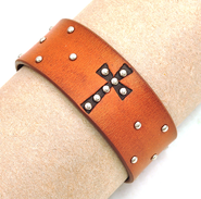 Faith Leather Bracelet  -