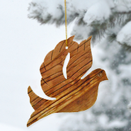 Olivewood Dove Ornament   -