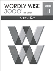 Wordly Wise 3000 3rd Edition Answer Key Book 11  -