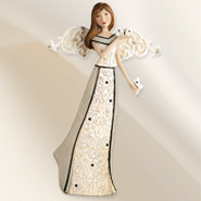 Angel Holding Butterfly Figurine  -