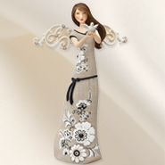 Angel Holding Dove Figurine  -