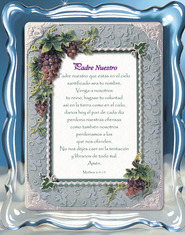 Padre Nuestro, The Lord's Prayer Music Frame, Spanish  -