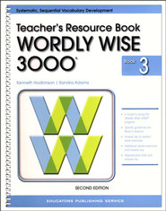 Wordly Wise 3000 Teacher Resource Book 3, 2nd Edition   -