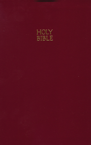 KJV Giant Print Reference Bible, Leatherflex, Burgundy   -