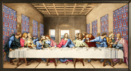 The Last Supper--Hand Painted Stained Glass   -     By: Rosa Caselli Moretti