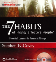 7 Habits of Highly Effective People: Powerful Lessons in Personal Change Abridged Audiobook on CD  -              Narrated By: Stephen R. Covey                   By: Stephen R. Covey