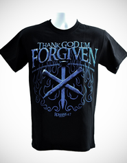Thank God I am Forgiven Shirt, Black, Large  -