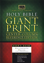 KJV Giant Print Center Column Reference Bible, Leatherflex, Burgundy  -