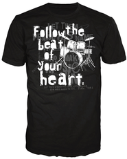 Follow The Beat of Your Heart Shirt, Black, Extra Large  -