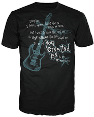 You Created Me Shirt, Black, Extra Large  -