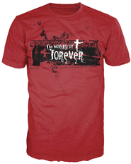 Working On Forever Shirt, Red, Large  -