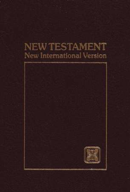 NIV Pocket-Thin New Testament, burgundy softcover 1984  -