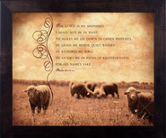 Lord is My Shepherd, Psalm 23, Framed Print  -              By: Julie Chen
