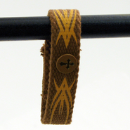 Canvas Bracelet, Tribal Cross  -