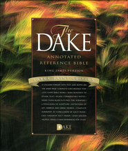 KJV Dake Annotated Reference Bible, Large Print, Bonded leather, Black  -