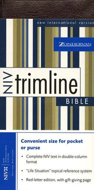 NIV Trimline Bible, Bonded leather, Burgundy  1984  -