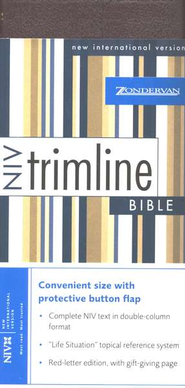 NIV Trimline Bible, Bonded leather, Burgundy w/snap flap  1984  -