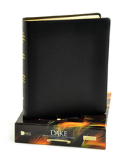 The KJV Dake Annotated Reference Bible Large Print, Genuine Leather, Black  -