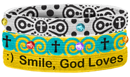 Smile Stretch Bracelets, Set of 3  -