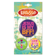 Jesus Is My BFF Button Set  -