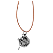Cross and Crown Pendant  -