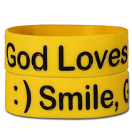 Smile God Loves You Silicone Bracelet  -