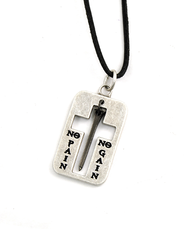 No Pain, No Gain Nail Pendant  -
