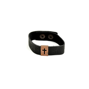Copper Slot Cross Wristband  -