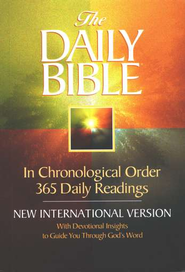 NIV Daily Bible, Compact Edition, Softcover  - Slightly Imperfect  -