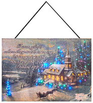 Sunday Evening Fiberoptic Wall Hanging by Thomas Kinkade  -     By: Thomas Kinkade