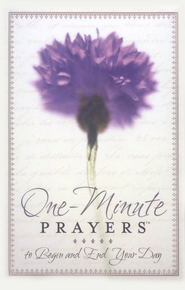 One-Minute Prayers to Begin and End Your Day Hardcover (padded with ribbon)  -     By: Hope Lyda