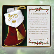A Stocking For Jesus--Ornament Gift Set   -