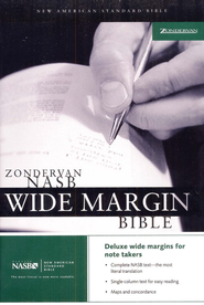 NAS Wide Margin Bible, Hardcover              -