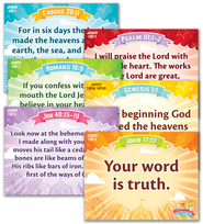 IncrediWorld Amazement Park VBS Junior Memory Verse Posters (KJV Version; Set of 6)  -