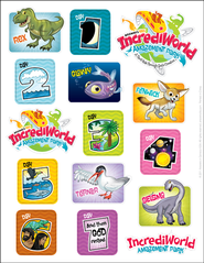 IncrediWorld Amazement Park VBS Logo Sticker Sheets  (Pack of 10)  -