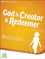 Answers Bible Curriculum: God is Creator & Redeemer Grades 3&4 Teacher Guide with DVD-ROM Year 1 Quarter 2  -