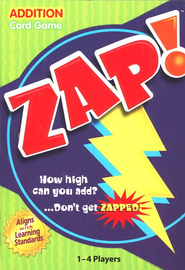 Zap! Addition Card Game   -