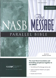 The Message, NASB Parallel Bible Bonded Leather, Black  -