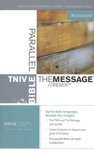 Message Remix & TNIV Parallel Bible Hardcover - Slightly Imperfect  -